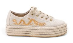 Sneaker Plataforma Gold Dragon